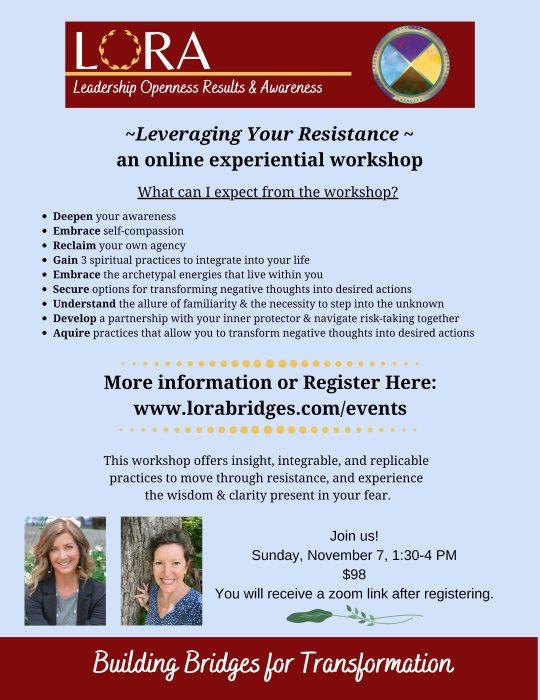 Leveraging Your Resistance (Flyer)